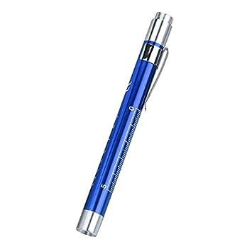 Lampe de poche /à LED stylo Lampe de poche petit portable /à piles avec 2 piles AAA V/élo en aluminium ultra-lumineux brillant anti-d/érapant imperm/éable