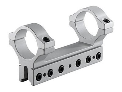 BKL 1-Pc Mount, 30mm Rings, 3/8 or 11mm Dovetail, 4 Long, 6 Base Screws, Silver