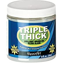 Bulk Buy: Deco Art Triple Thick Gloss Glaze 8 Ounce Wide Mouth Jar TG01-36 (3-Pack)