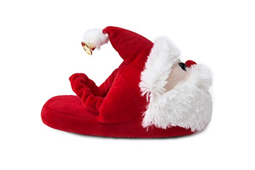 [Santa Claus Children's Slippers (Toddler/Little Kid) With Back Strap Design] (Furry Boots Cheap)