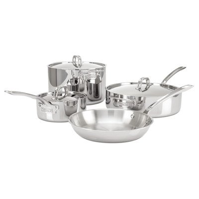 Viking Culinary 3-Ply Stainless Steel 7 Piece Cookware Set (Vikings Appliances compare prices)