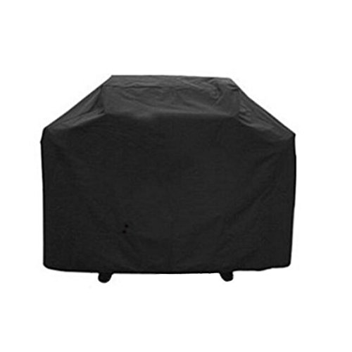Bermu Heavy Duty Waterproof Oxford Fabric Rectangular Barbecue Grill Cover Black XXL