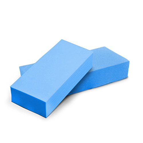SuperSponge | 2 pcs Super Absorbent PVA Sponges for Liquid / Oil 8 Times its Weight, 6.7x2.7x1.2in, Lint-free and Eco-friendly, Blue