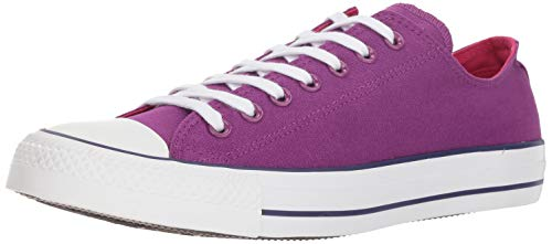 Converse UNISEX Chuck Taylor All Star 2018 Seasonal Low Top Sneaker, icon Violet/Pink pop/White, 6.5 M US ()