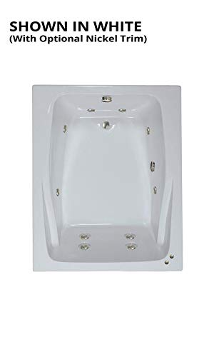 Watertech - 6048 White Whirlpool Bath (60 in. x 48 in.) - Includes 12.5 amp In-Line Heater
