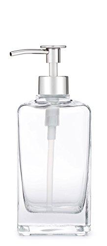 - Rail19 Casa Glass Soap Dispenser with Metal Pump (Chrome Luxe)