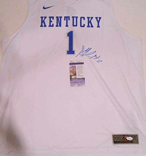 - Skal Labissiere Autographed Signed Memorabilia Kentucky Wildcats Nike Basketball Jersey With - JSA Authentic