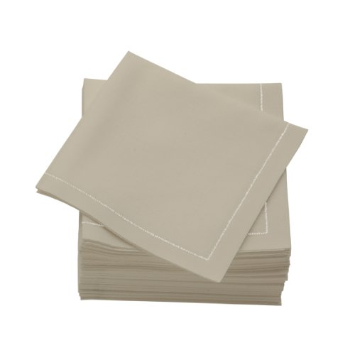 MYdrap SA21/603-5 Pre-folded Cotton Luncheon Napkin, 4.0'' Length x 4.0'' Width, Sand (Case of 300) by MYdrap