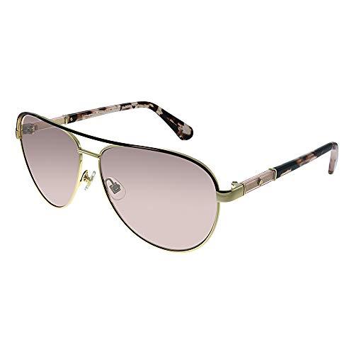 Kate Spade Women's Emilyann/s Aviator Sunglasses, GOLD PLUM HAVANA/PINK FLASH SILVER, 59 mm