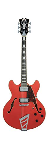 D'Angelico 6 String Semi-Hollow-Body Electric Guitar, Right (DAPDCFRCTCB)
