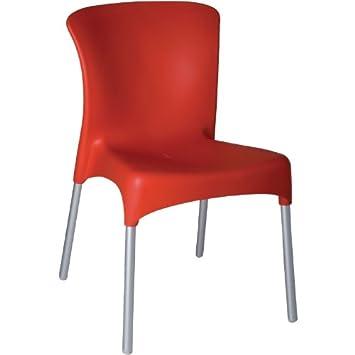 D&D Al Aire Libre sillas apilables - Color: Rojo. Polipropileno ...
