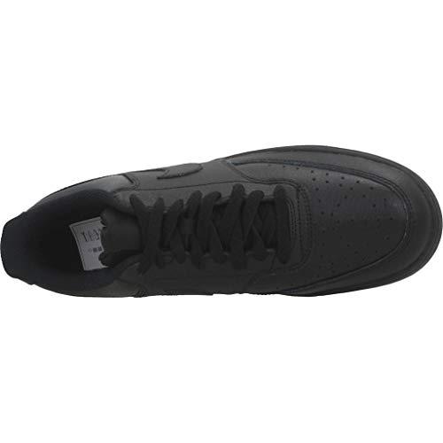 Nike Men's Court Vision Low Sneaker, Black/Black-Black, 6.5 Regular US
