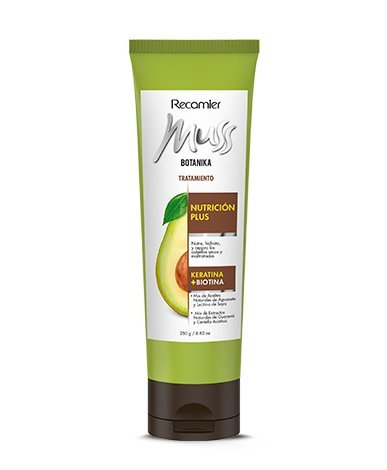 Amazon.com: MUSS BOTANIKA NUTRICION PLUS TRATAMIENTO / Aguacate, Keratine and biotin 250gr/ 10.53oz: Beauty