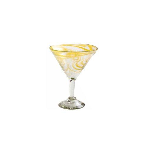 Orion Trading G266-AS 15 Oz. Amber Swirl Margarita Glass - Dozen by Orion Trading & Design