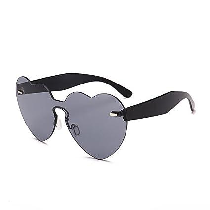 ZHANGYUSEN 2018 nuova moda donna senza montatura di occhiali da sole cuore amore Vintage forma colore Candy Occhiali da sole per la parte femmina UV400, blu