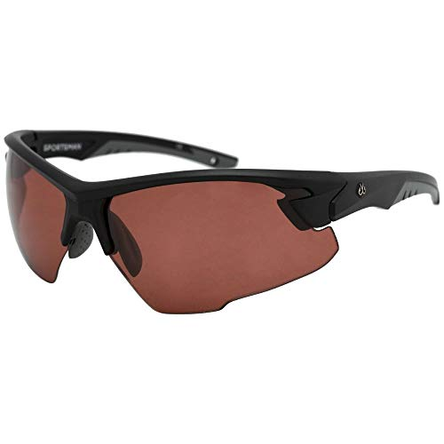 Filthy Anglers Sportsman Fishing Sunglass for Men Polarized Outdoor Lightweight Half Frame (Black, Rose - Polar Copper Mirror