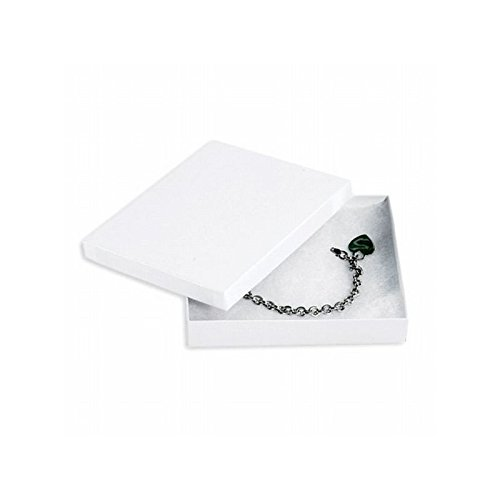 Box Packaging Jewelry Box, White, 6'' x 5'' x 1'' - Case of 50 by Box Packaging