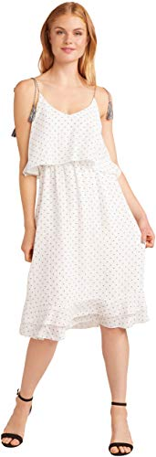 - cupcakes and cashmere Women's latana Polkadot Dress, Ivory, Small