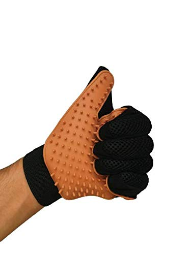 ZXZ [Newest Version Pet Grooming Glove | Gentle Deshedding Glove | EFFICIENT Pet Hair Remover | Perfect for Dog & Cat…