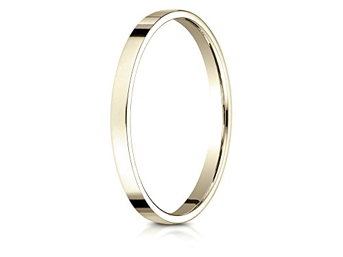 Benchmark 14k Gold 2.0mm Traditional Flat Wedding Band / Ring Size 4.5 ()