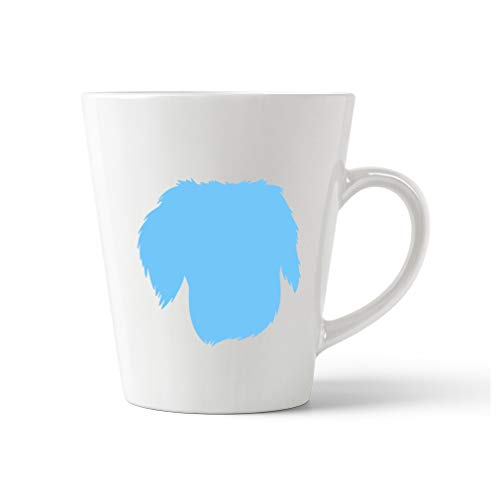 Style In Print Light Blue Brittany Silhouette Ceramic Latte Mug - 12 OZ
