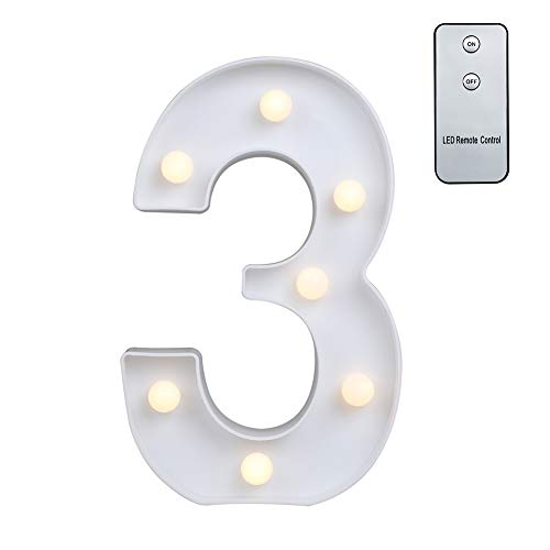 Carry360 LED Marquee Letters with Remote Control, Plastic