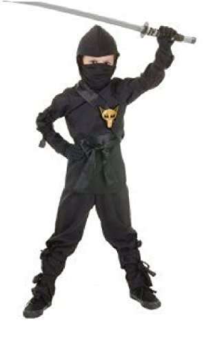 [Underwraps Children's Ninja Costume, Black, Small] (White Ninja Costumes For Kids)