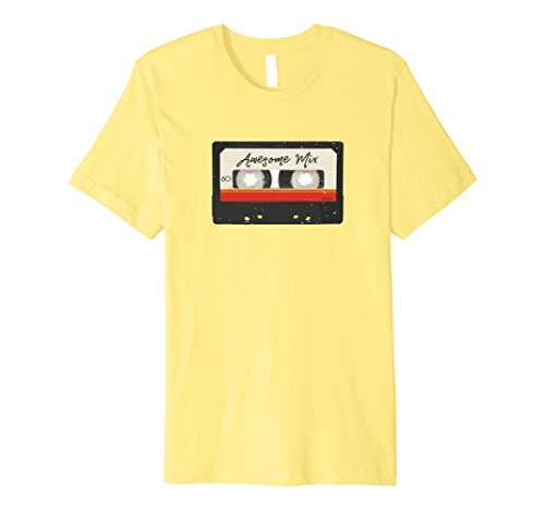 Cassette Tape Halloween Costume (Mens 1980 Mix Tape Cassette Costume Halloween Party Theme T-shirt Small Lemon)