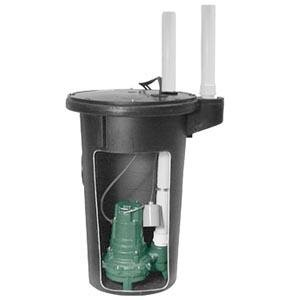 Zoeller M264 Sewage Pump And Basin System Utility Water