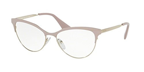 112607fdba6 Prada CINEMA PR55SV Eyeglass Frames UF51O1-54 - Pink Pale Gold - Buy Online  in UAE.