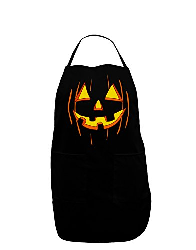 TooLoud Halloween Pumpkin Smile Jack O Lantern Dark Adult Apron - Black - (Halloween Sayings About Food)