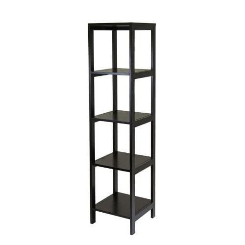 Luxury Home Hailey Brown Wood 5-tier Modular Tower Shelf by Luxury Home (Image #1)