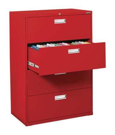 Sandusky Lee LF6A364-01 600 Series 4 Drawer Lateral File Cabinet, 19.25