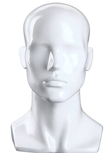 - Male Gloss White Mannequin Head