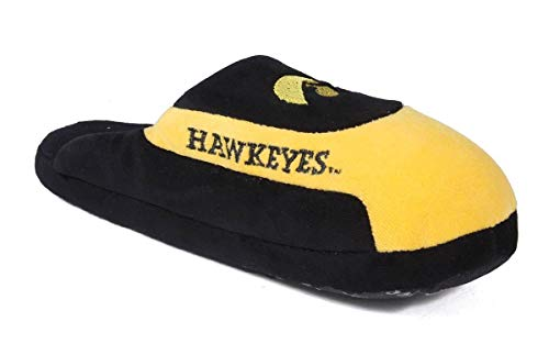 IOW07-3 - Iowa Hawkeyes - Large - Happy Feet & Comfy Feet NCAA Low Pro Slippers