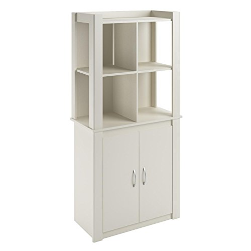 Cosco Products Riley Baby Room Tall Storage Cabinet with Doors, White
