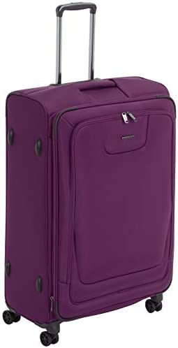 AmazonBasics Premium Expandable Softside Spinner Suitcase Luggage