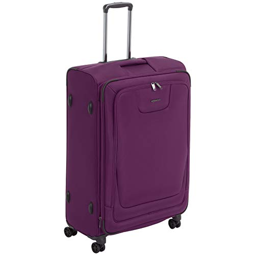 AmazonBasics Expandable Softside Spinner Luggage Suitcase With TSA Lock And Wheels - 29 Inch, Purple ()