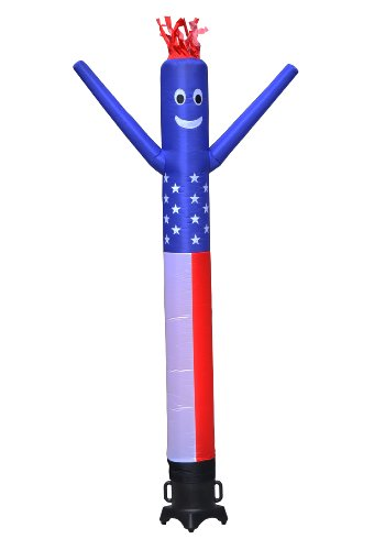 LookOurWay Air Dancers Inflatable Tube Man Complete Set with 1/2 HP Sky Dancer Blower, 10-Feet, American Flag