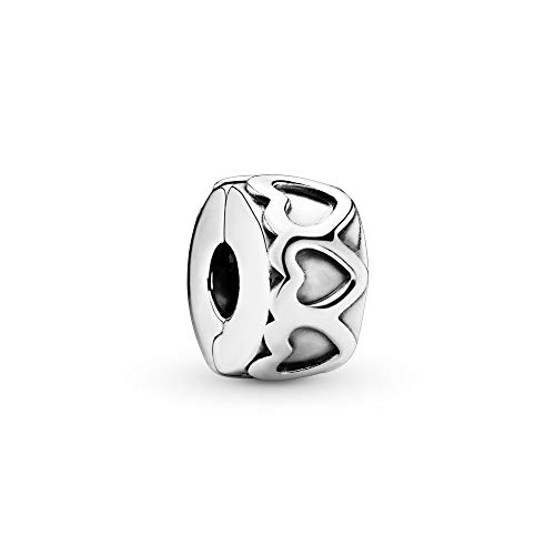 Pandora Jewelry - Row of Hearts Charm for Women in Sterling Silver