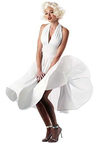 California Costumes Women's  Marilyn Costume,White,Medium