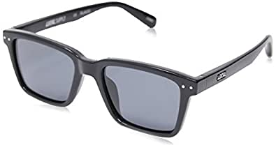 Local Supply Men's COAST Polarized Sunglasses - Dark Grey Tint Lens, Gloss Black Frames