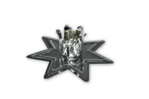 Nature's Enlightenment Silver Metal Chime Candle Holder - Candle Magick, Wicca, Pagan, Meditation, Reiki, Spiritual by Nature's Enlightenment (Image #2)