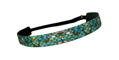 RAVEbandz Exclusive Fashion Headbands (MERMAID) ñ Adjustable, Non-Slip Sports & Fitness Hair Bands for Women and Girls