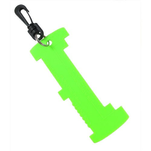 Scuba Choice Scuba Diving Lobster and Shellfish Measuring Gauge with Clip, Lime