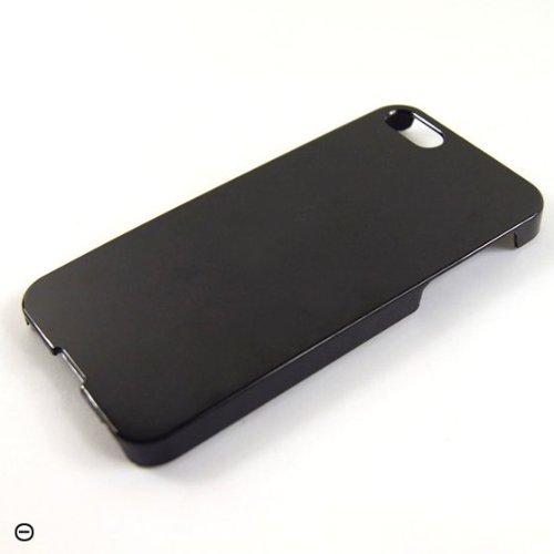 iPhone SE / 5 / 5s Case Schutzhülle Schutz Handy Hülle Bumper Tasche Etui Schale Hard Case Schlicht in Schwarz