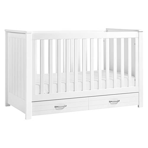 (DaVinci Asher 3-in-1 Convertible Crib with Toddler Bed Conversion Kit, White)