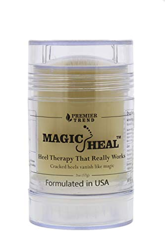 Magic Heal Cracked Heel Treatment For Cracked Heels - Dry Feet Lotion to Repair, Soothe & Beautify Painful Dry Foot Skin - Works Like Magic On Feet - Fast Results, No Mess Stick Application, 2oz (Best Treatment For Extremely Dry Feet)