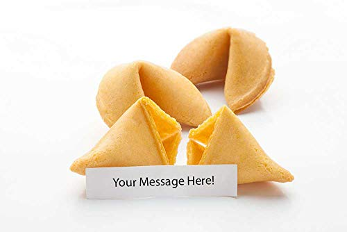 250 Custom Fortune Cookies - Individually Wrapped - Use Your Own Messages - (250 -