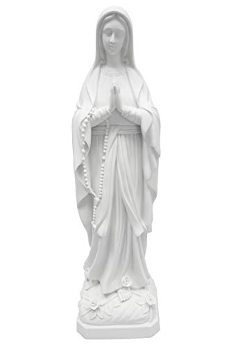Grotto Collection (32 Inch Our Lady of Lourdes Blessed Mother Virgin Mary Catholic Statue Sculpture Figurine Vittoria Collection Made in Italy Indoor Outdoor Garden Grotto Religious Gift)